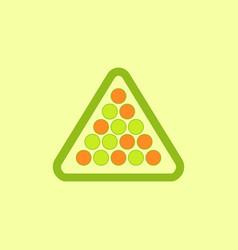 Set of billiard balls in triangle vector