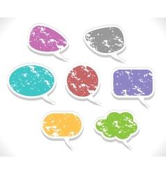 speech bubbles set vector image