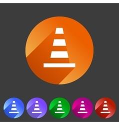 Traffic cone icon flat web sign symbol logo label vector image vector image