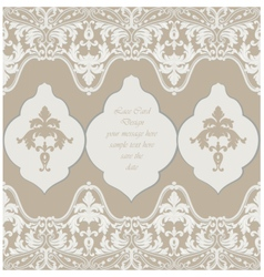 Vintage delicate lace baroque card vector