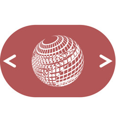 Wire-frame design element sphere vector