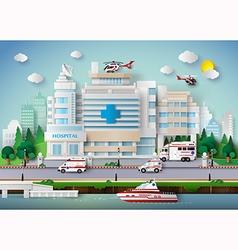 Hospital building vector
