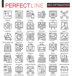 Seo search engine optimization outline concept vector