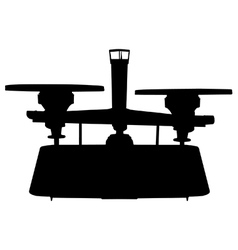 Balance scale silhouette vector