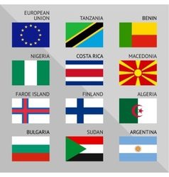 Flags of world flat set number 03 vector