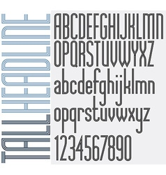 Triple stripes tall headline retro style light vector