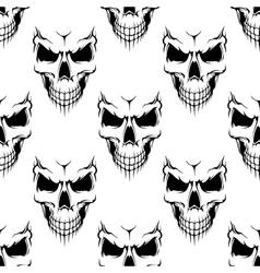 Black danger skull seamless pattern vector image