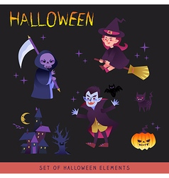 Halloween characters design cartoon vector