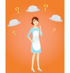 housewife thinking out what to cook vector image