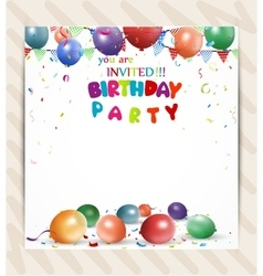 Birthday celebration card vector image