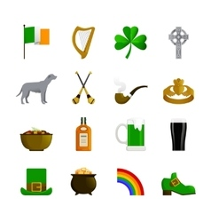 Ireland flat color icons vector