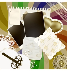 Scrapbook design vector