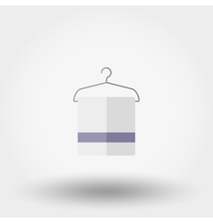 Hanger and towels icon vector