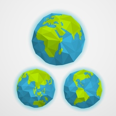 The earth with abstract world map infographic vector