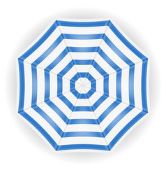 beach umbrella view from top stock vector image vector image