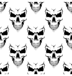 Black danger skull seamless pattern vector image