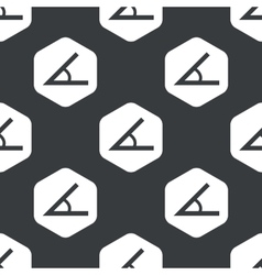 Black hexagon angle pattern vector