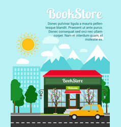 Bookstore advertising banner vector