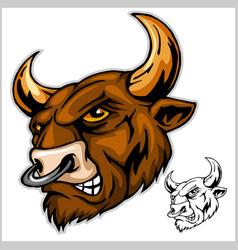Bull head mascot - vector