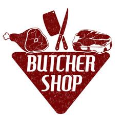 butcher shop stamp vector image