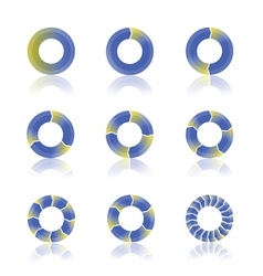 diagrams vector image vector image