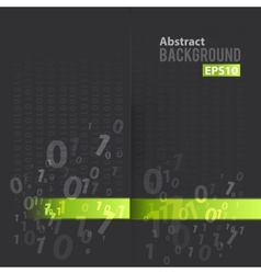 Digital background with green line vector image