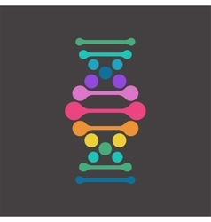 DNA genetic element and icon vector image vector image