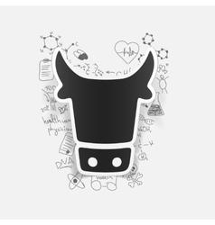 Drawing medical formulas cow vector
