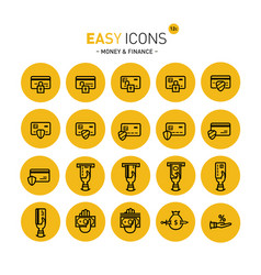 Easy icons 12c money vector