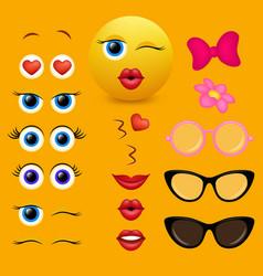 Emoji creator design collection vector