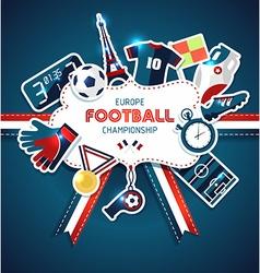 Europe football championship sport vector