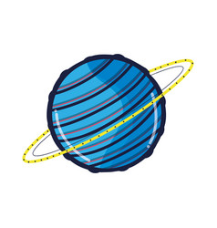 exploration uranus planet in the galaxy space vector image vector image