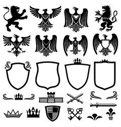 Family coat of arms elements for heraldic vector image vector image