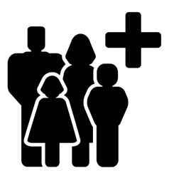family medical care icon vector image