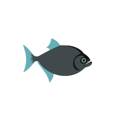 Fish icon in flat style vector image vector image