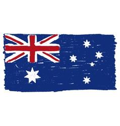 Flag of Australia handmade vector image