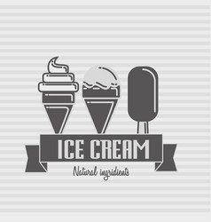 ice cream logo template vector image vector image