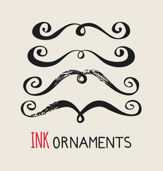 Ink ornaments moustaches vector