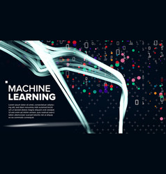 machine learning background algorithm vector image vector image