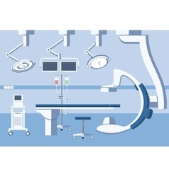 Medical hospital surgery operating room theater vector