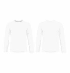 Mens white long sleeve t shirt vector