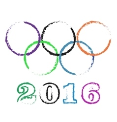 Olympic rings rio vector