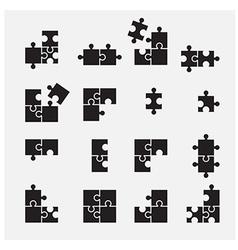 puzzle symbol vector image vector image