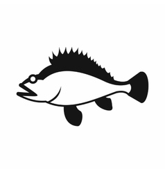Rose fish sebastes norvegicus icon simple style vector