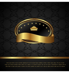 royal background with golden frame vector image vector image