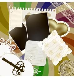 scrapbook design vector image vector image