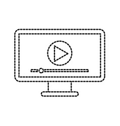 screen video player for web and internet media vector image vector image