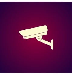 silhouette of surveillance vector image