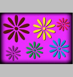 Simple flowers vector