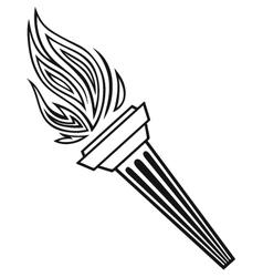 Symbol torch vector image vector image